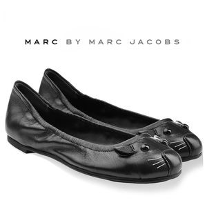 Marc by Marc Jacobs Mouse Leather Ballet Flats